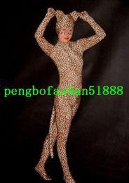 Ternos lycra leopardo on-line-Sexy Leopardo Terno Roupa Nova Multicor Lycra Spandex Leopardo Terno Catsuit Trajes Unisex Halloween Party Fantasia Vestido Cosplay Terno P220