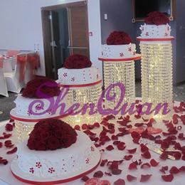 Puesto de postres de seguridad, soporte de pastel de pedestal redondo de acrílico transparente, soporte de pastel cuadrado de acrílico transparente, soporte de torta de boda envío gratis desde fabricantes