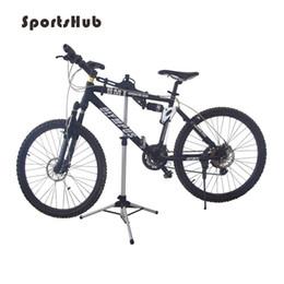 supporto estensione clip Sconti Parcheggio biciclette SPORTSHUB 70-132CM Alluminio Parcheggio biciclette Rack Bike Display Stand Cavalletto Riparazione Rack Holder Pieghevole Bike Staging C0038