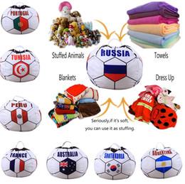 2019 futebol russo Novo 26 polegada Copa Do Mundo Russo Saco De Armazenamento De Futebol Copa Do Mundo Bag Beanbag 10 pçs / lote T2I158 futebol russo barato