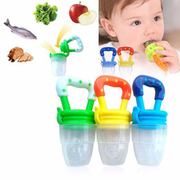 Wholesale free baby pacifiers - Baby Infant Toddler Feeding silicone Food Fruit Feeder Kids Nipple Feeding Safe Nipple Pacifier baby 4 size Pacifiers toys DHL free