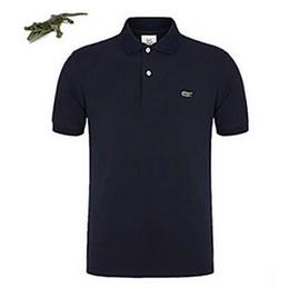 El más rápido de envío más la marca de manga corta polo hombres deportivos tops camisetas Camisa hombres transpirable sólido camiseta de hombre ropa S- 4XL desde fabricantes