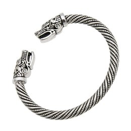 Braccialetto indiano della testa online-Bracciali vichinghi di lupo testa maschile gioielli indiani best list 2018 prodotti accessori bracciale bracciale polsino bracciale donna da uomo