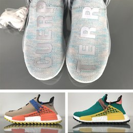 Wholesale Boy Candy - Footwear White NMD Hu BBC Human Race Shoes, Pharrell Human Race Trail NMDs Cotton Candy Hiking Sneakers Billionaire Boys Club 2018 Nerd