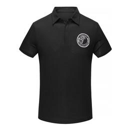 Wholesale Custom Shirt Designer - New Arrive 2018 men shorts sleeve Turn-Down Collar Cotton embroidery Letter printing Polos Custom Designer made t- shirts size M-3XL 1581