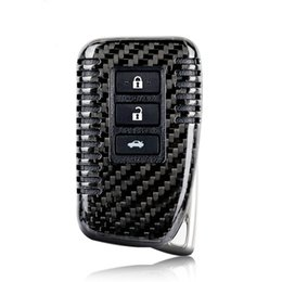 lexus schlüssel fob Rabatt Echt Carbon Fiber Auto Schlüssel Abdeckung Fall Fob Box für Lexus RX270 NX200 CT IST ES GS RX GX 2 3 Taste Smart Key