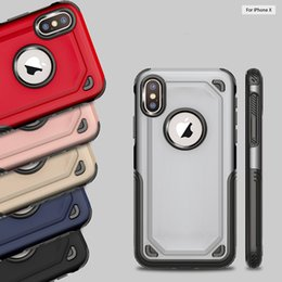 Wholesale hybrid defender - 2 in1 Hybrid Armor Case Rugged Shockproof Defender Cases Cover For iPhone X 8 7 6 6S Plus Samsung S8 S9 Plus Note 8 S7 edge