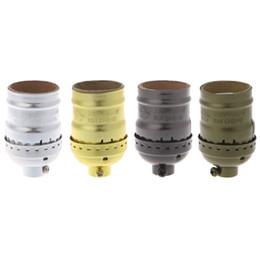 Wholesale Vintage Pendent Lights - E26 E27 Aluminum Retro Pendent Vintage Light Bulb Lamp Holder Socket Without Switch L15