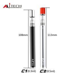 Wholesale e cigs wholesale - Original Mjtech 5S C1 C2 Vape Pen for Thick Oil Cartridges O pen CE3 Ceramic Coils Glass Tank 320mAh Starter Disposable Kits e cigs vapor