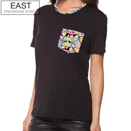 5f4f18b53ca EAST KNITTING H869 2017 Summer New Ladies T-Shirts Black Fashion Brand T  Shirt Women T-shirt Plus Size Tops Tee
