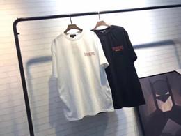 Wholesale Fans Letter - 2018 Summer Streetwear Paris Fan Made Fashion Men High Quality Broken Hole SINNER Letter printing Cotton Tshirt Casual Women Tee T-shirt