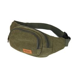 91766cab841df 2019 weinlese grüne geldbeutel FangNymph Green Chest Bag für Männer  Leinwand Geldbörse Gürtel Wandern Umhängetasche Brieftasche