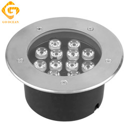 Wholesale 12w Underground Led Light - GO OCEAN 12W Led Underground Light 12V IP67 Waterproof Ground Buried Lamp Project Landscape Lights Engineering Light Outdoor Garden Light