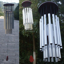 Wholesale Outdoors Decor - Antique Wind Chimes 27 Tubes 5 Bells Outdoor Living Yard Windchimes Garden Tubes Bells Wind Chimes Hanging Home Decor
