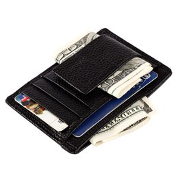 Wholesale Easy Note - Fashion High-quality Leather Men's Wallet Slim Casual Design Easy To Carry Multi-function Magnetic Thin Card Powerful Multi-card Bit Wallet