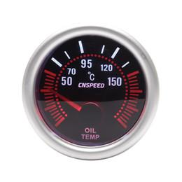 Óleo de turbo on-line-52 milímetros Universal Car LED Bar Turbo Oil Temperature Gauge Medidor Red Iluminado Needle Grey Tint Lens