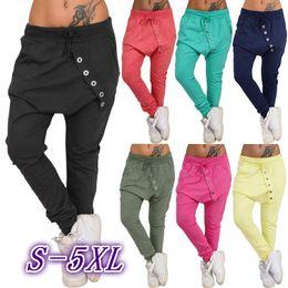 Wholesale Baggy Trousers Woman - Women Jogging Pant Loose Baggy Harem Pants Trousers S-5XL