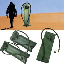 Zaino verde idratazione online-Sacchetto pieghevole portatile della vescica dell'acqua di 3L BackPack Borsa d'acqua durevole di idratazione per l'escursione di campeggio all'aperto verde dell'esercito