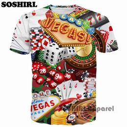 Wholesale Poker T Shirts - Poker T Shirt Funny Letter T-Shirt Mens Printing Tshirt Summer Tops Tee Us Size XXS S M L XL XXL 3XL 4XL 5XL