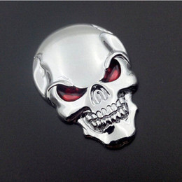 pegatinas de arranque 3d Rebajas 10 Unids / lote 3D Skull Car Boot Chrome Badge Universal Auto Art Rear Truck Emblem Sticker