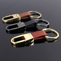 Mens and Womens Gift High-Grade Real Leather Key Chain Best Design Three Colors Car Keychain For Sale