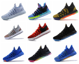 Wholesale Kd Shoes High Cut - With Box Durant Zoom KD 10 GS PK Curry 4 Men's Basketball Shoes Street Fashion High Quality Indoor and Outdoor Sneakers