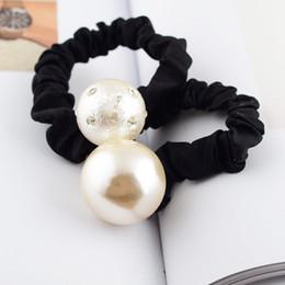 Corde à cheveux blancs en Ligne-Style européen tête accessoires perle corde à cheveux femmes mode Vintage luxe c style dame bande de caoutchouc noir blanc 7zfa ww