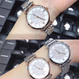 full rhinestones watch Promo Codes - luxury Women Watch full Diamond famous Designer Rose gold lady WristWatch Fashion Luxury Quartz Rhinestone Watch Relojes De Marca Mujer Sexy