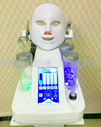 Wholesale Oxygen Cleaners - 7In1 Hydra Dermabrasion Facial Machine Spa Facial Cleaning Oxygen Jet Peeling Deep Clean Skin Rejuvenation BIO lift machine with led mask