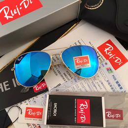 Wholesale fashion drivers - Rlei.Di SUNGLASSES Brand Designer Pilot Sunglasses Women Fashion Driver Sun Glasses Men UV400 Mirror Aviador Sunglasses Male Female Rayed