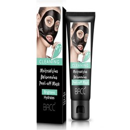 Wholesale Black Spots Remover - Blackheads removers black Suction Mask collagen facialpilaten 50ml BACC Cleansing purifying peel off Black face Peel Masks
