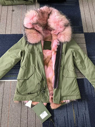 Wholesale Xs Dog Collar Green - Live pictures Mr Mrs itlay pink coyote fur lining army green short parkas Mr Mrs furs wolf fur mini jackets