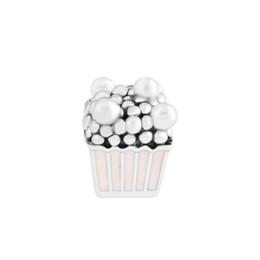 Wholesale Nouveau Délicieux Popcorn Charme Perles De Mode Pour bricolage Bijoux Convient pour pandora Bracelets perle en argent sterling Pour Femme Cadeau livraison gratuite