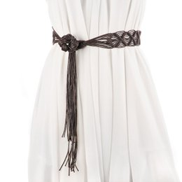 Nouveau style ethnique dames tissage ceinture ceinture Large noeud chinois décoratif ceinture avec jupe modèles féminins ? partir de fabricateur