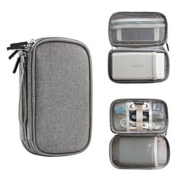 Caixa do organizador de viagens eletrônica on-line-New Design Viagem Gadget Organizer Bag Portátil Digital Cable Bolsa Eletrônica Acessórios de armazenamento Carrying Case Bolsa para USB Power Bank