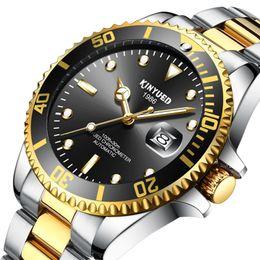 Wholesale Dive Watch Blue - Top AAA Mens sports Glidelock Clasp mechanical watch MenBezel Basel diving schedule full steel crystal watch sports watch.