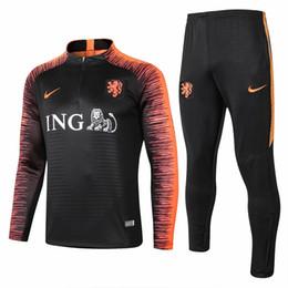 Best-seller novo 18 19 Holanda jaqueta Robben 2018 2019 longe de casa treino de treino de futebol Van Persie Sneijder treino terno sportwear cheap netherlands robben jersey de Fornecedores de netherlands robben jersey