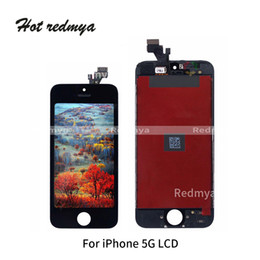 Заменить сенсорный экран iphone онлайн-10 шт./лот для iphone 5 5 г ЖК-дисплей с сенсорным дисплеем дигитайзер полный экран Передняя рама Ассамблеи заменить части бесплатно DHL