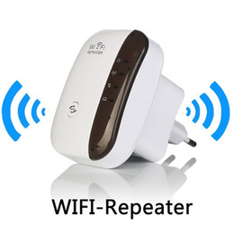 Wholesale Wifi Wireless Signal Booster - Original Wireless WiFi Repeater Signal Amplifier 802.11N B G Wi-fi Range Extander 300Mbps Signal Boosters Repetidor Wifi Wps Encryption