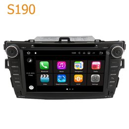 Wholesale Dvd Corolla Touch Screen - Road Top S190 Android 7.1 System Quad Core CPU 2 Din Car Radio DVD GPS Navigation Head Unit Car Computer PC for Toyota Corolla 2007 - 2012