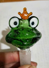 Wholesale Frog Oil - color Frogs' cartoon bubble head, Wholesale bongs Oil Burner Glass Pipes Water Pipes Glass Pipe Oil Rigs Smoking ,Free Shipping