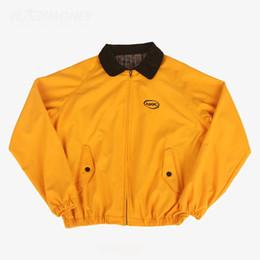 Chaquetas coreanas online-Hombres Chaqueta Primavera Safari Estilo Amarillo Ropa jaqueta masculina Corea Moda Grupo BTS Jung Kook Streetwear casaco