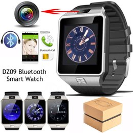 Wholesale Multi Camera Bluetooth - Exquisite DZ09 Smart Watch Bluetooth phone Mate GSM For IOS Android Phones HTC Samsung Huawei Support Multi languages