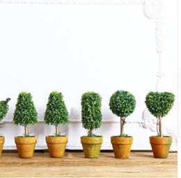 2019 plantas em vasos artificiais atacado Top Mini Artificial Planta Decor Planta Em Vasos Decorativos para Sala de estar Home Office Atacado e Varejo plantas em vasos artificiais atacado barato