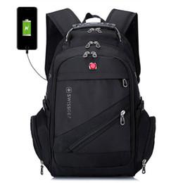 Sacolas de laptop suíças on-line-Mochila Multifuncional suíça Sacos De Viagem Caminhadas Camping Mochilas Bolsa Para Laptop Mochila Esporte Ginásio Ao Ar Livre Saco De Duffel