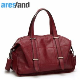 сумочка красное вино Скидка ARESLAND  Travel Bag Women Retro Style Travel Bags 2017 Fashion Women Handbag High-End Bag - Red Wine