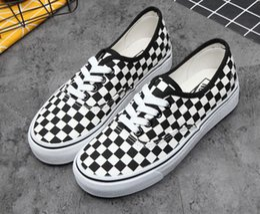 Стили стилей тапочек онлайн-Оптовая продажа-обувь новый унисекс низкий стиль взрослых женщин мужские холст обувь шнуровкой Повседневная обувь Sneaker 35-44