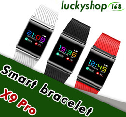 Wholesale Camera For F1 - Smart Bracelet X9 Pro For Android IOS Bluetooth Band Heart Rate Blood Pressure Pedometer phone Smart Wristband PK xiao mi band2 F1 S2 M2S S3