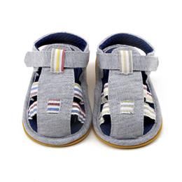 7ca10679e5c54 Delebao 2018 Été Gris Vichy Prewalker Bébé Garçon Sandales En Caoutchouc Semelle  Souple Bébé Garçon Chaussures Pour 0-18 Mois En Gros abordable chaussures  ...