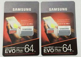 Wholesale 256gb Sd - 8GB 16GB 32GB 64GB 128GB 256GB Samsung EVO+ Plus micro sd card U3 smartphone TF card C10 Tablet PC SDXC Storage card 95MB S